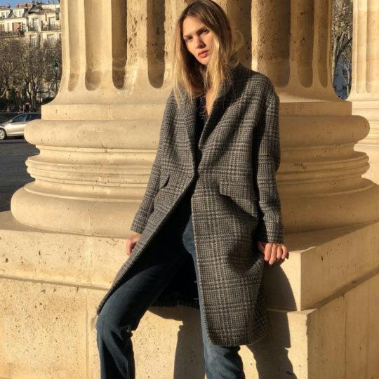 Manteau d'hiver en drap de Laine-2